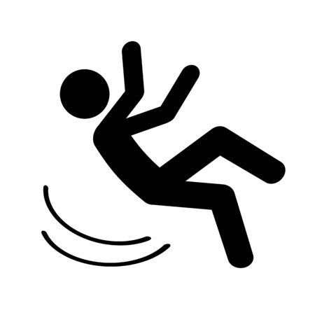 A falling person's mark