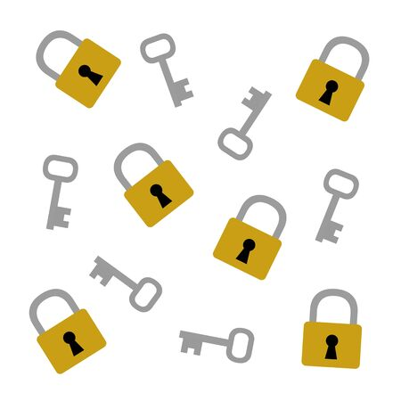 Background of a padlock