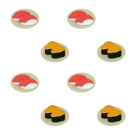 Background of sushi