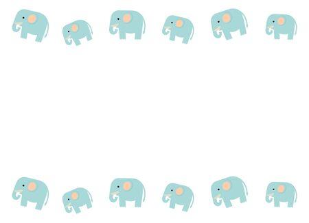 Frame of an elephant Reklamní fotografie