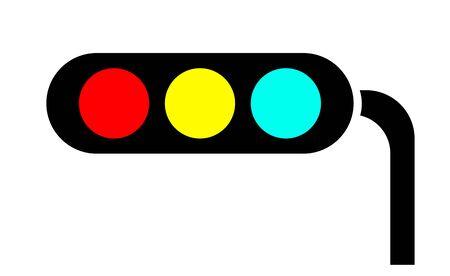 Mark of a traffic light Banco de Imagens