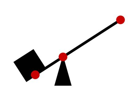 The figure which indicates a principle of a lever