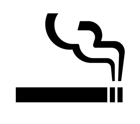 Pictogram of smoking area Banco de Imagens