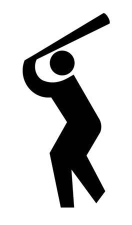 Pictogram of the baseball 스톡 콘텐츠
