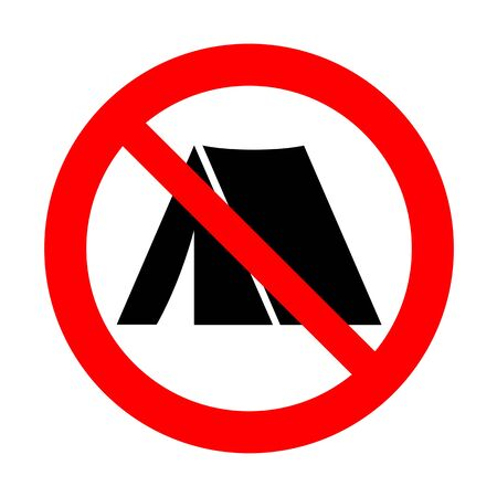Camping prohibition mark