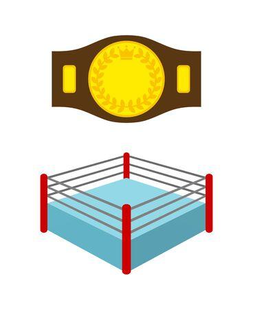 Champion Belt and Ring 写真素材
