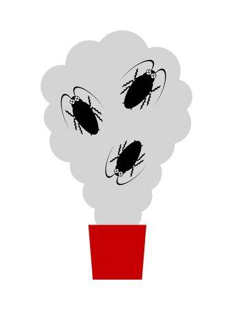 Rauchvorhang zur Kakerlakenvernichtung
