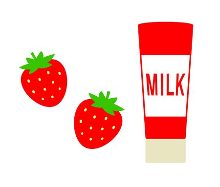 Strawberry and condensed milk Banco de Imagens