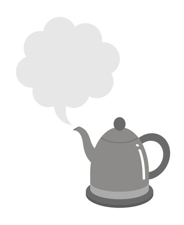 Steam spouts from an electric kettle 版權商用圖片