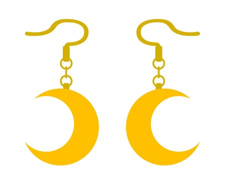 Pierced earring with the shape of the crescent