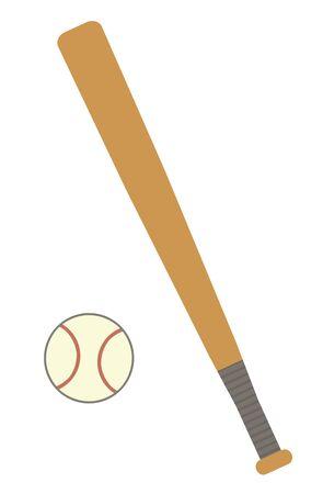 Baseball ball and a bat 写真素材