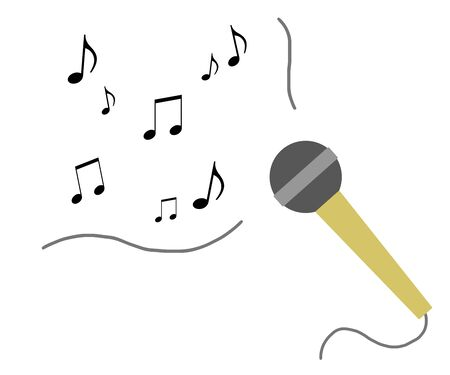 The music flows from a microphone