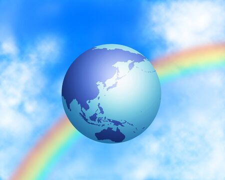 The earth floats on the sky
