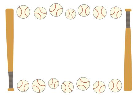 Frame of bat and ball