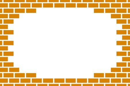 Frame of brick