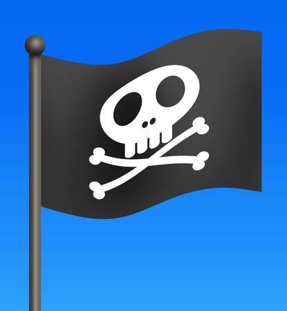 Flag of Skull 写真素材