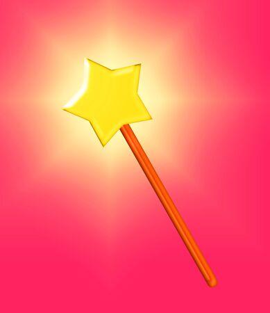 Staff of a star 版權商用圖片
