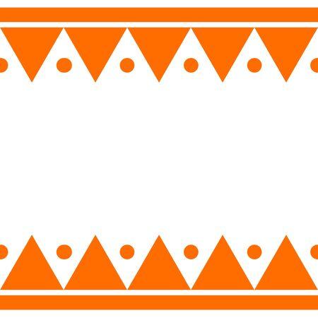 Ethnic image frame Reklamní fotografie