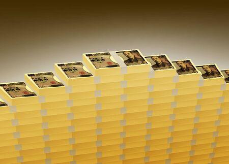 The heaped large sum of money Foto de archivo