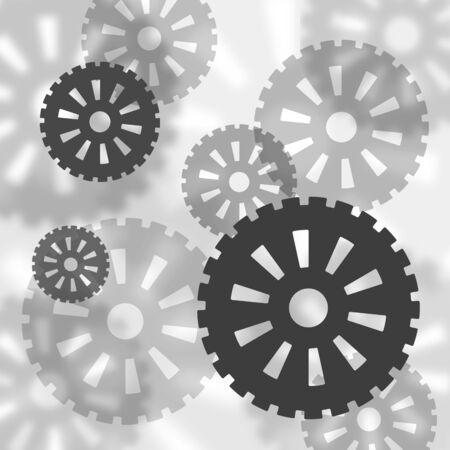 A lot of gears 写真素材
