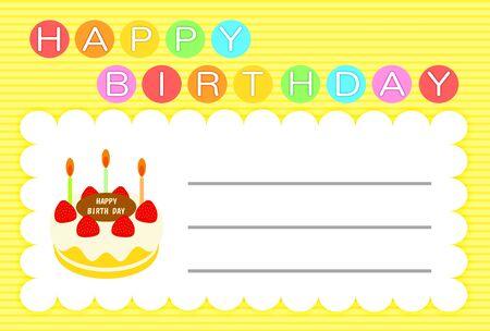 Birthday card 스톡 콘텐츠