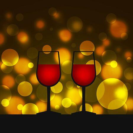 Lined wine glasses Banque d'images - 137739198