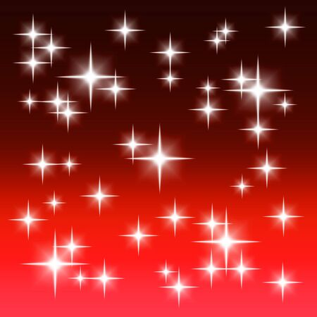 Red background with shining light