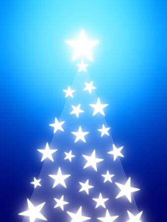 Shining star tree Reklamní fotografie