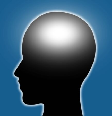 The human brain is shining