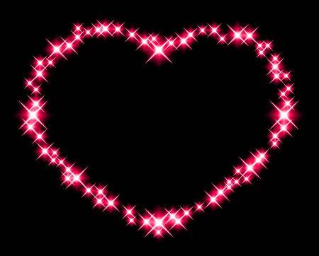 Heart-shaped glow Фото со стока