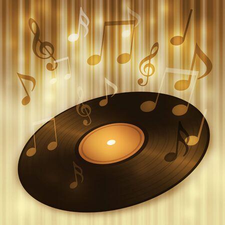 Music of record Фото со стока