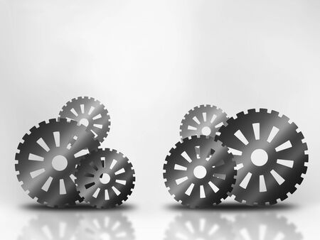 Background material of many gears
