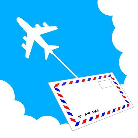 Airplane and airmail Фото со стока