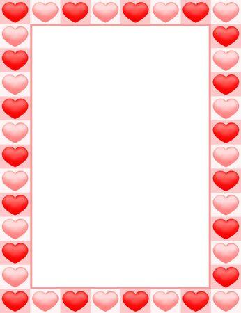 Heart symbol frame