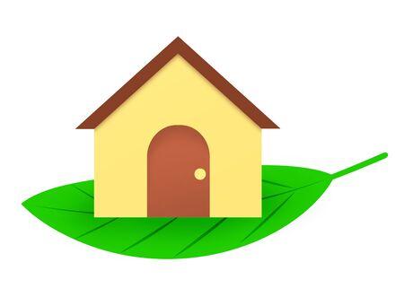 A house on a leaf