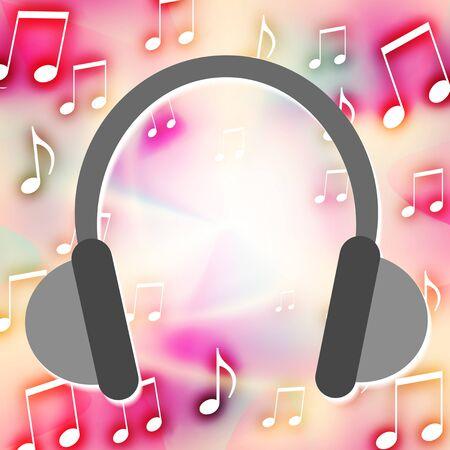 Image of headphones music