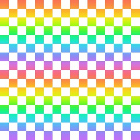 Rainbow colored checkered pattern