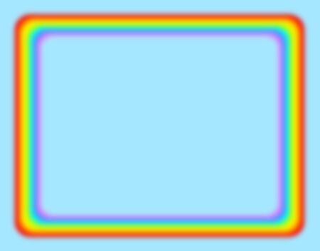 Rainbow colored frame