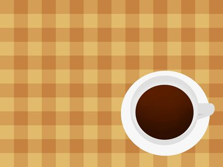 Coffee seen from above