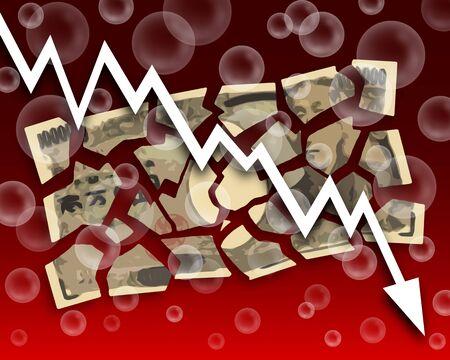 Japanese yen decline