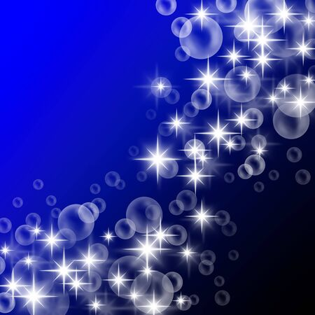 Bubble and sparkling light