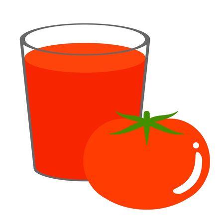 Tomato juice and tomato Фото со стока