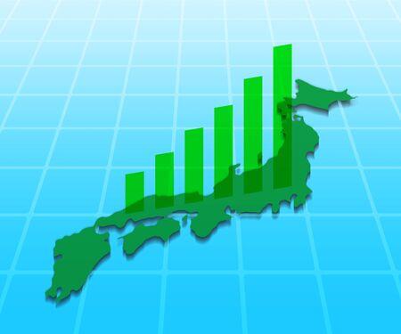 Japan and bar charts