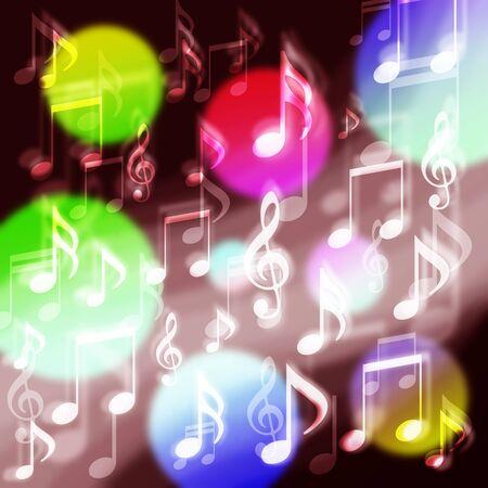 Many musical notes background Фото со стока