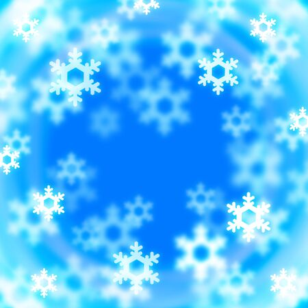 Background of a crystal of snow