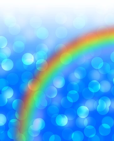 Shimmering background and rainbow