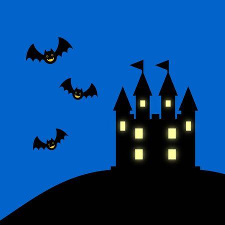 Castle and bat
