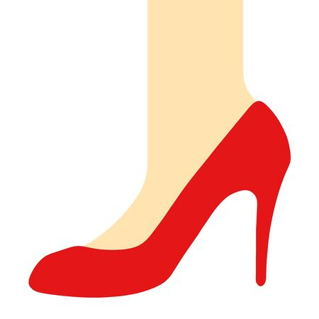 Foot That Puts on Red High-Heels