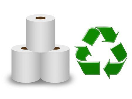Recycle of toilet paper 版權商用圖片