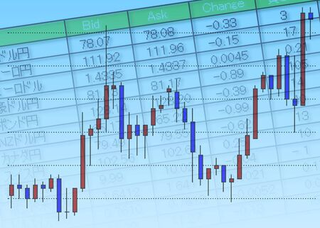 Exchange rates and charts Banco de Imagens